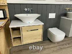 Ex-display Crosswater Infinity 700mm Vanity Unit, Basin & Wall Hung Wc Toilet