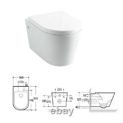 Fawley Round Wall Hung Toilet & Soft Close Seat Modern Round Wall Hung Toilet