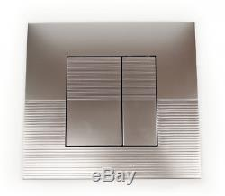 Frame Cistern Flush Plate With Wall Hung Rimless Toilet And Soft Closing Seat