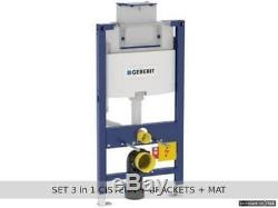 GEBERIT DUOFIX 98CM OMEGA 3in1 WALL HUNG WC TOILET FRAME CISTERN +BRACKETS +MAT