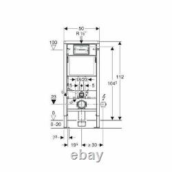 GEBERIT Delta Duofix Wall Hung Concealed Toilet Cistern WC Frame 112cm 12cm