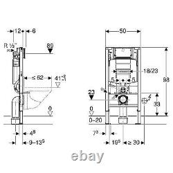 GEBERIT Sigma 0.98 Concealed Cistern WC Frame RAK Wall Hung Rimless Toilet Pan