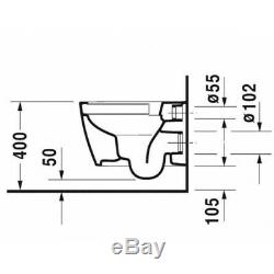 GEBERIT Slim Frame UP720 +Plate+ DURAVIT Wall Hung Toilet Rimless Soft Closin WC