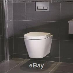 GEBERIT UP720 8cm FRAME+ ESSENTIAL IVY RIMLESS TOILET PAN WITH SOFT CLOSE SEAT