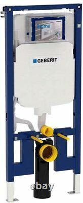 GEBERIT UP720 SLIM 8cm WC FRAME DURAVIT DURASTYLE RIMLESS WALL HUNG TOILET SOFT