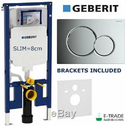 GEBERIT UP720 WALL HUNG TOILET WC FRAME 8cm SIGMA 01 FLUSH PLATE INSULATION MAT