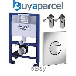 GROHE 38526 Rapid SL 3 in 1 WC Set 0.82m Concealed Frame, Cistern, Nova Plate