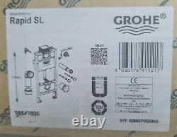 GROHE (38947000) Rapid Sl 3 in 1 Set for Wall-Hung Toilet 1m + flush plate