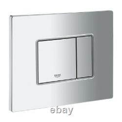GROHE CONCEALED CISTERN WC FRAME WITH GREY RIMLESS WALL HUNG TOILET PAN 5in1