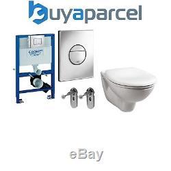 GROHE RAPID 0.82m SL Toilet Cistern Frame + Nova PLATE+ PAN