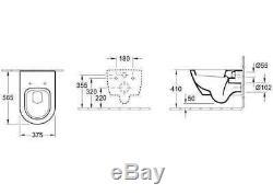 GROHE RAPID 0.82m WC FRAME + VILLEROY BOCH SUBWAY 2.0 56cm PAN & SOFT CLOSE SEAT