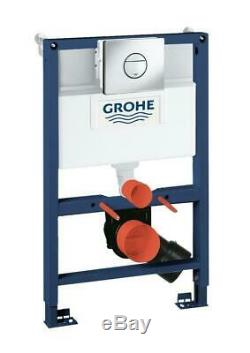 GROHE RAPID SL 0.82m WC FRAME + VILLEROY & BOCH OMNIA PAN WITH SOFT CLOSE SEAT