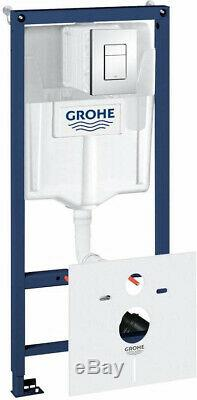 GROHE RAPID SL FRAME 5in1 with WALL HUNG RIMLESS WC + SOFT CLOSING SLIM SEAT
