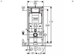Geberit 111.383.00.5 Duofix Wall Hung WC Toilet Frame Sigma Cistern 1.12m
