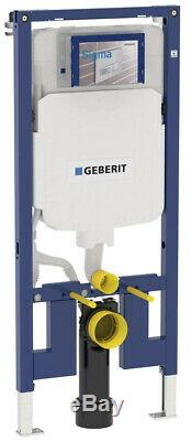 Geberit 8cm slim wall hung toilet frame, bright chrome plate, brackets & mat