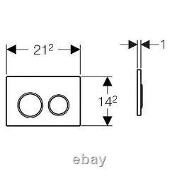 Geberit DuoFix 82cm wall hung toilet frame OMEGA 20 PLATE + WALL BRACKETS & MAT