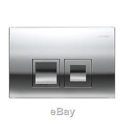 Geberit DuoFix wall hung toilet frame WC 1.12M chrome plate + brackets & mat