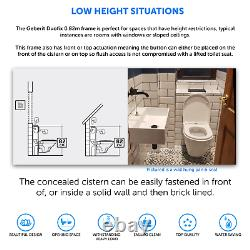Geberit Duofix 0.82m Wall Hung Concealed Toilet Cistern WC Frame & Flush Plate
