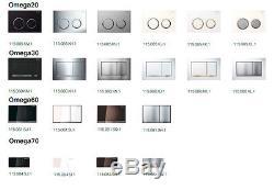 Geberit Duofix 98cm wall hung toilet frame +OMEGA PLATE + WALL BRACKETS & MAT