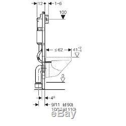 Geberit Duofix Basic Up100 Delta Wc Toilet Cistern Frame + Brackets + Wc Bend