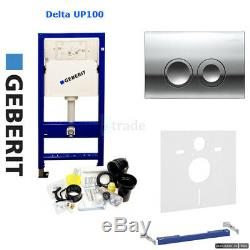 Geberit Duofix Delta Wc Frame Up100 With Delta 21 Flush Plate Set