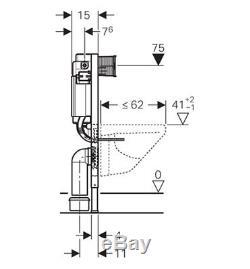 Geberit Duofix Kappa Up200 Wc Toilet Cistern 820mm+flush Plate+brackets+wc Bend