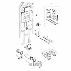 Geberit Duofix Special UP320 Corner Frame for wall hung WC concealed cistern