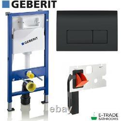 Geberit Duofix Up100 Frame + Flush Plate Geberit Delta 51 Black + Fresh System