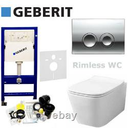 Geberit Duofix Up100 +flush Plate +wall Hung Rimless Wc +quality Soft Clos Seat