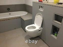 Geberit Duofix WC Frame with UP320 Cistern, WC Pan and Seat