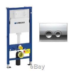 Geberit Duofix Wc Toilet Cistern Frame+delta 21 Flush Plate+brackets+wc Bend