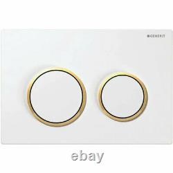 Geberit Kappa21 Dual Flush Plate White/gold For Up200 Kappa Concealed Cistern
