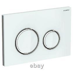 Geberit Sigma21 Glass Metal Dual Flush Plate White/gloss Chrome Sigma Cistern