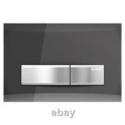 Geberit Sigma50 Dual Flush Plate Smoked Glass Reflective/chrome Finish