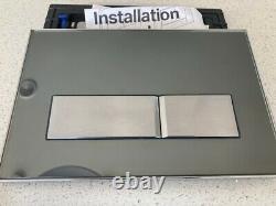 Geberit Sigma 50 Dual Flushplate Smoked Glass Reflective Cistern Bathroom
