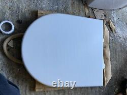Geberit Toilet Frame, Duravit Darling New. Push Button Plate. Duravit Starck