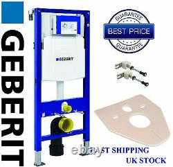 Geberit UP320 1.12m WC wall hung toilet frame, wall brackets, mat all accessories