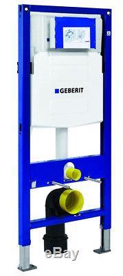 Geberit UP320 wc wall hung toilet frame + pan + flushplate + brackets + mat