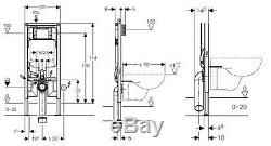 Geberit UP720 8cm WC wall hung toilet frame, pan, plate, brackets, mat, seat