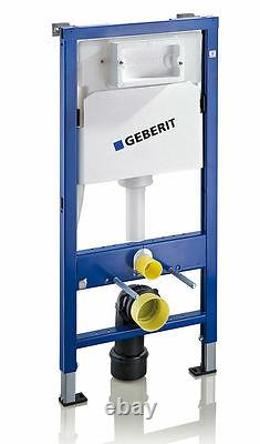 Geberit Up100 Cistern Frame Delta 50 + Alma Wall Hung Toilet Pan Soft Close Seat
