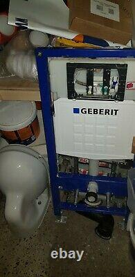 Geberit Wall Hung Toilet Pan & 1.12m Concealed Cistern Frame WC Unit