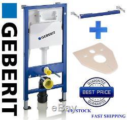 Geberit wall hung Toilet Frame full set flushplate, pan, brackets, seat, mat