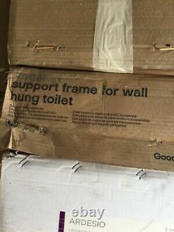 GoodHome teesta wall hung toilet with soft close seat / With Frame / New