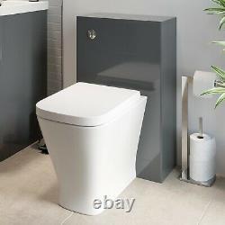Grey Bathroom Furniture Vanity Unit Basin Storage Cabinet Toilet WC Soft Close