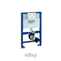 Grohe 38526 Rapid 0.82m Dual Flush Cistern Frame 38765 Nova Plate & Toilet Pan