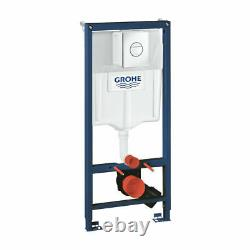 Grohe Concealed Cistern Wc Frame With Rak Ceramics Rimless Wall Hung Toilet Pan