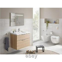 Grohe Euro Rimless Ceramic Compact Wall Hung Toilet with Soft Close Sea 39693000