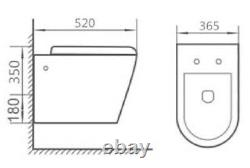 Grohe Rapid Concealed Cistern Wc Frame With Galaxy Rimless Wall Hung Toilet Pan