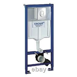 Grohe Rapid SL 3 in 1 Support Frame Wall Hung Toilet Concealed Dual Flush Plate
