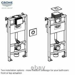 Grohe Rapid Sl Wc Frame 0.82 + Rimless Wall Hung Pan With Slim Soft Close Seat